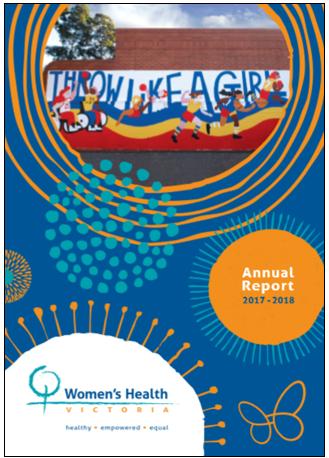 Women's Health Victoria annual report 2017 - 2018