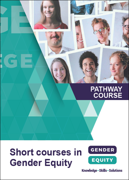 Short courses in gender equity: Pathway Course brochure cover image