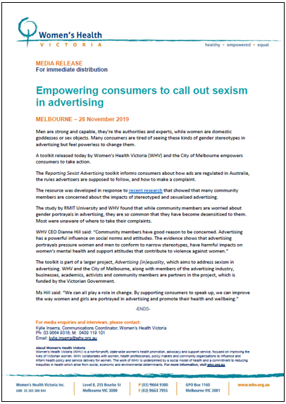 Empowering consumers to call out sexism in advertising thumbnail image