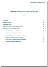 Submission in response to the Health 2040 Discussion Paper