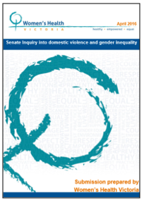 Senate Inquiry into domestic violence and gender inequality submission