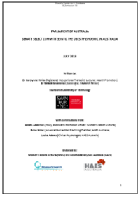 Senate Select Committee into the Obesity Epidemic in