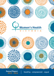 Women's Health Victoria annual report 2015-2016