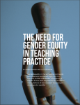 The need for gender equity in teaching practice: article cover image