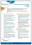 Women and oral health Fact Sheet