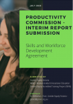 Front cover of the submission to Productivity Commission interim report to the National Skills and Workforce Development Agreement
