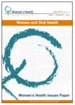 Women and oral health Issues Paper