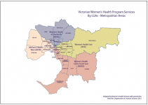 Victorian Women's Health Program services by LGA: metropolitan areas map thumbnail
