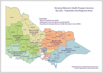 Victorian Women's Health Program services statewide and regional areas map thumbnail