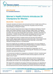 Women's Health Victoria introduces 25 Champions for Women thumbnail