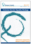 Victorian gender equality strategy submission
