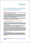 Submission to Public health and wellbeing plan 2019-2023 thumbnail