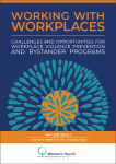 Working with workplaces: challenges and opportunities for workplace violence prevention and bystander programs